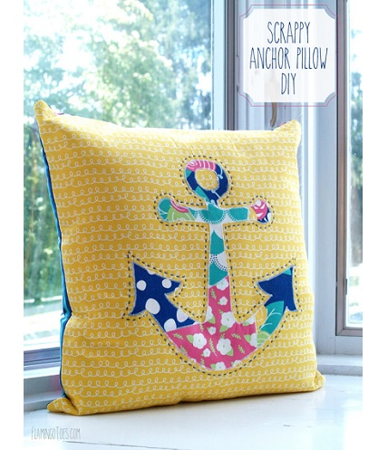 Throw Pillow Sewing Instructions : Tutorial: Scrappy anchor throw pillow ? Sewing