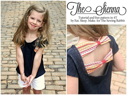 Free pattern: Sienna bow back top for little girls