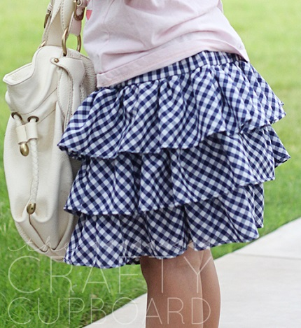 Tutorial: Girl's triple tiered ruffle skirt