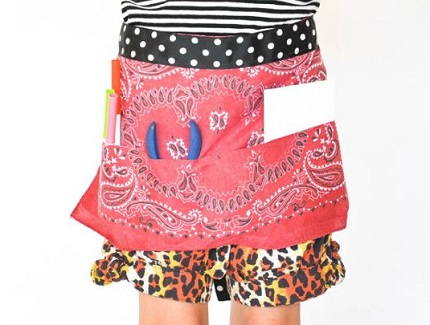 Tutorial: Easy child's bandana apron
