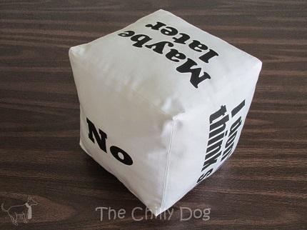 Tutorial: Decision cube pillow