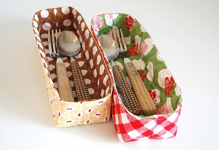 Tutorial: Skinny fabric organizer baskets