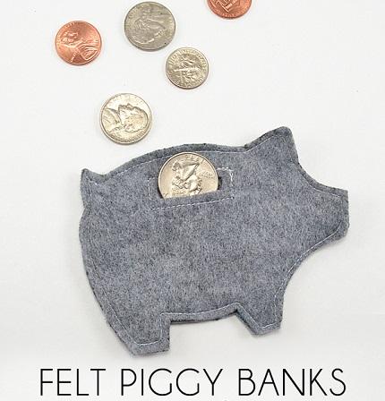 Tutorial: Felt piggy bank