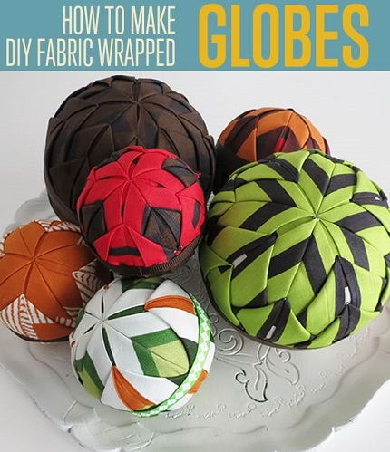 Tutorial: Folded fabric globes