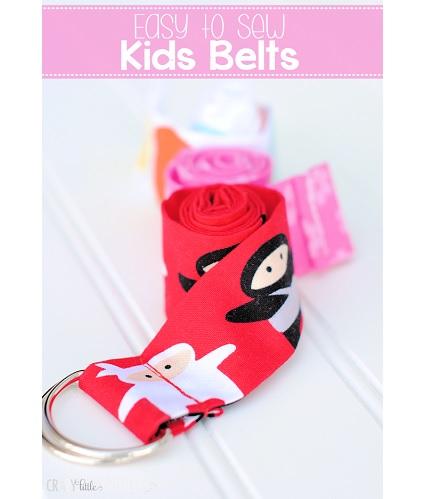 Tutorial: 10-minute kid's ribbon belt