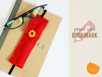 Tutorial: Felt pencil case bookmark