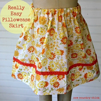 Tutorial: Vintage pillowcase skirt