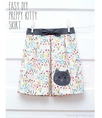 Tutorial: Girl's Preppy Kitty Skirt