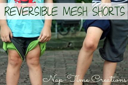 Free pattern: Boys' reversible mesh shorts