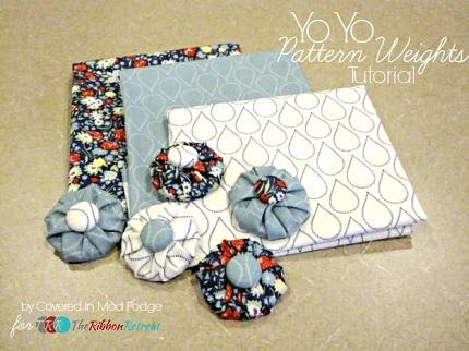 Tutorial yo yo fabric weights sewing for Yo yo patterns crafts