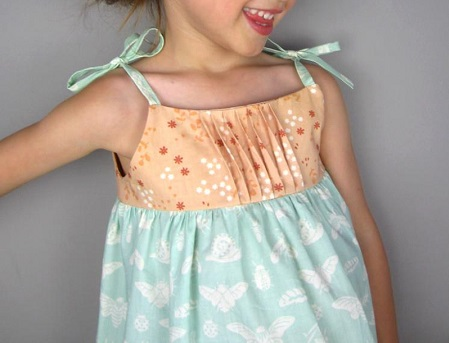 Free Pattern Girls Saudade Sundress With A Pretty Pleated