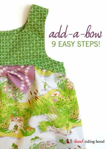 Tutorial: Sewn in bow for a dress or top