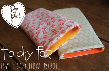 Tutorial: Simple felt lined phone case