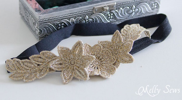 Tutorial: How to make a beautiful lace headband