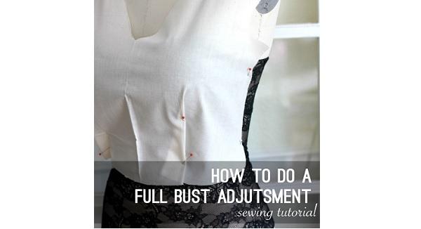 Tutorial: Full bust adjustment