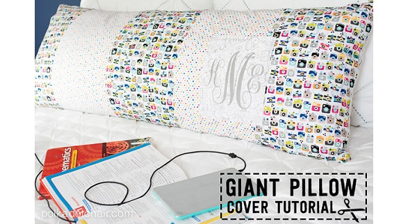 Body Pillow Cover Sewing Pattern: Tutorial  Body pillow cover – Sewing,