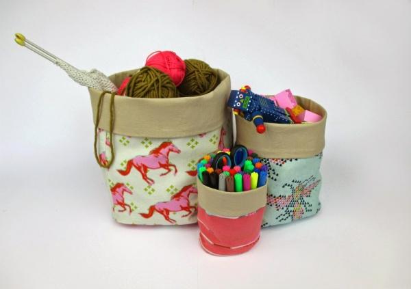 Free pattern: Matryoshka nesting fabric bins
