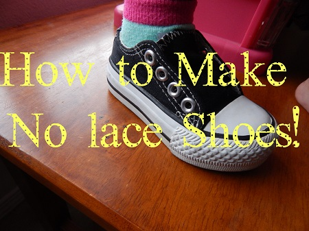Video tutorial: DIY no-lace shoes