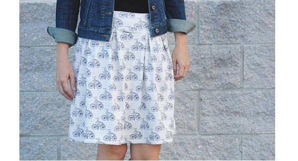 Tutorial Easy Pleated Knit Skirt Sewing