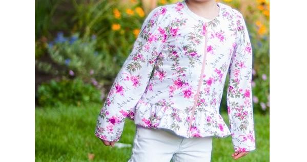 Free pattern: Lizzy peplum jacket for little girls