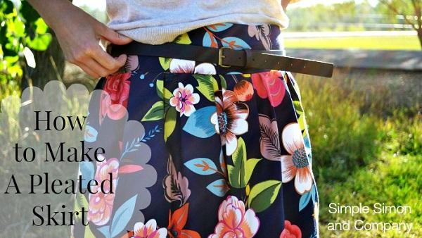 Tutorial: Wide waistband pleated skirt