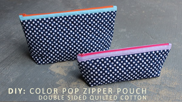 Tutorial: Color Pop Zipper Pouch