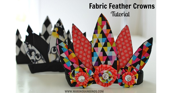 Tutorial: Fabric feather crowns