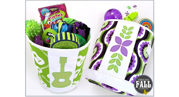 Tutorial: Fabric storage buckets with handles