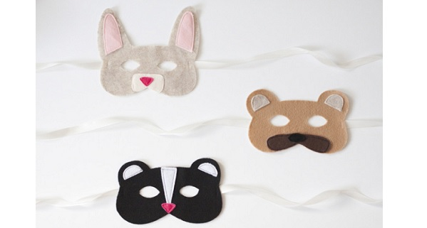 Free pattern: Felt animal masks