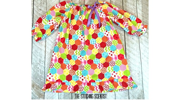 Free pattern: Little girl's flannel nightgown