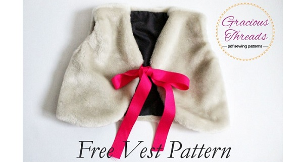Free pattern: Little girls fur vest – Sewing