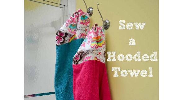 Tutorial: How to make a kids hooded towel