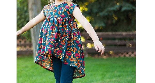 Free pattern: Modern Baby Doll Top for little girls