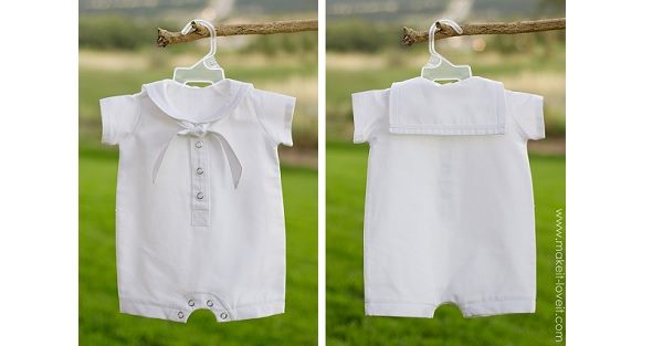 Tutorial: Make a baby's sailor romper