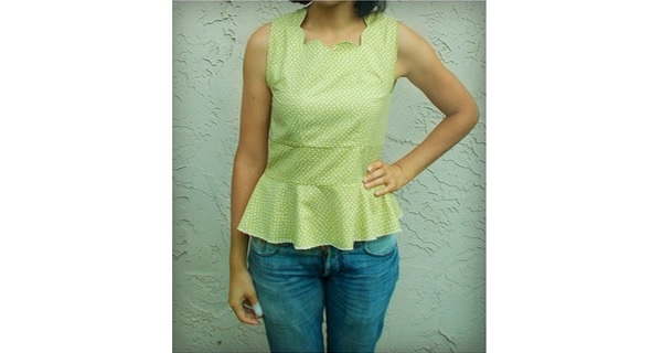 Free pattern: Scallop neck top or dress