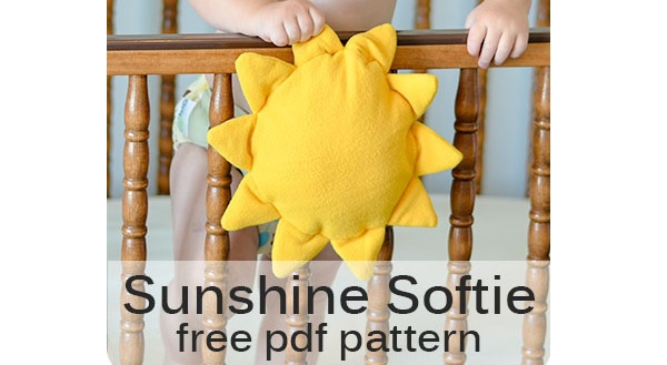 Free pattern: Fleece Sunshine Softie