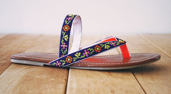 Tutorial: Boho sandals from flip flops