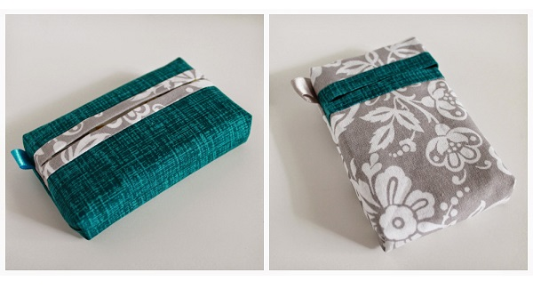 Tutorial: Travel tissue pack cover, two ways
