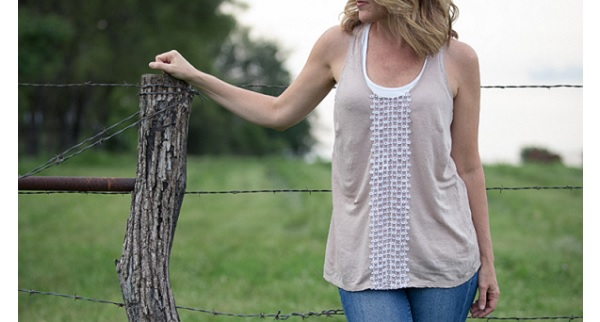 Tutorial: Easy vintage lace tank top restyle