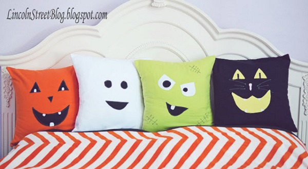 Tutorial: Flannel Halloween face pillows