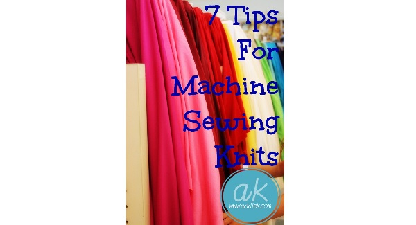 7 tips for sewing knits on your sewing machine
