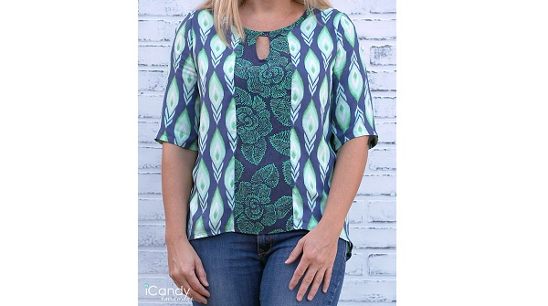 Tutorial: Add a keyhole neck to a blouse pattern