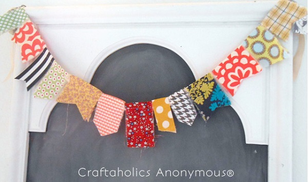 Tutorial: Sew your fabric scraps into a fun garland