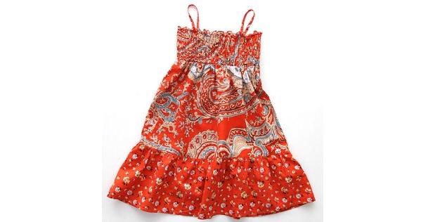 Tutorial: Little girl's sundress from a thrifted skirt