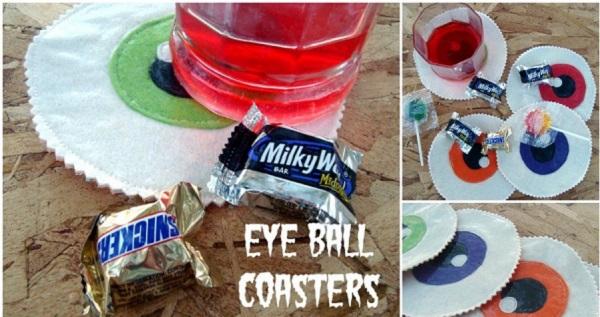 Tutorial: Felt eyeball coasters