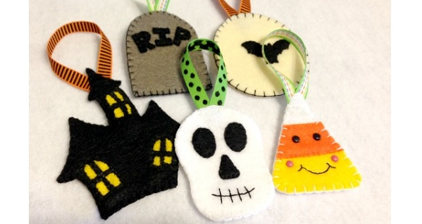 Free pattern: Felt Halloween ornaments