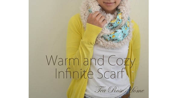 Tutorial: Fur lined infinity scarf