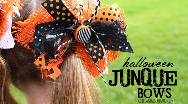 Tutorial: Halloween Junque Bows for little girls