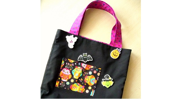 Tutorial: Trick or treat Halloween tote