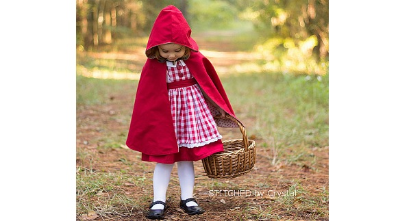 Tutorial: Little Red Riding Hood cape for little girls   Sewing